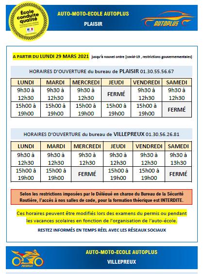 horaires 2bureaux MARS2021